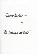 Eduardo Gozalo - Comentarios a El Mensaje de Silo (Cuaderno de Notas)