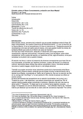 Ernesto de Casas - Estudio sobre el 'Buen Conocimiento y relación con Aura Mazda'