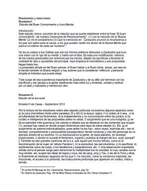 Ernesto de Casas - Resúmenes y menciones