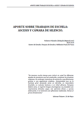 Federico Palumbo - Ascesis y Cámara de Silencio