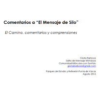 Gloria Barboza - El Camino, comentarios y comprensiones
